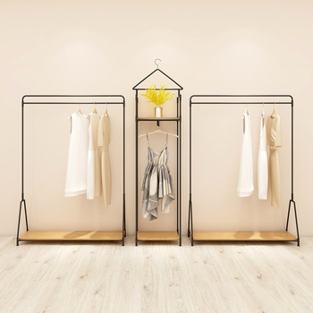 Customized Clothes Shop Clothes Display Showcase Hanging Clothes Rack