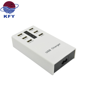 smart ic 6 port multi usb charger 5V 8A