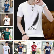 custom urban clothing stree wear your own text tshirt slim fit screen printing t shirts for men