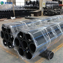 160mm black hdpe SDR17 pe pipe for water