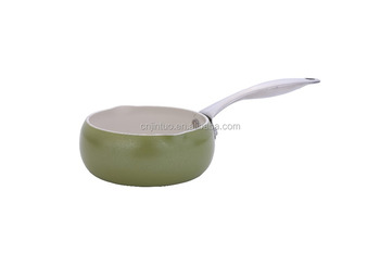 new aluminum saucepan with s/s handle