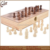 2 in 1 wooden backgammon and chess set