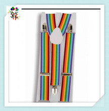 Adult Party Fancy Dress Elastic Rainbow Suspenders HPC-3047