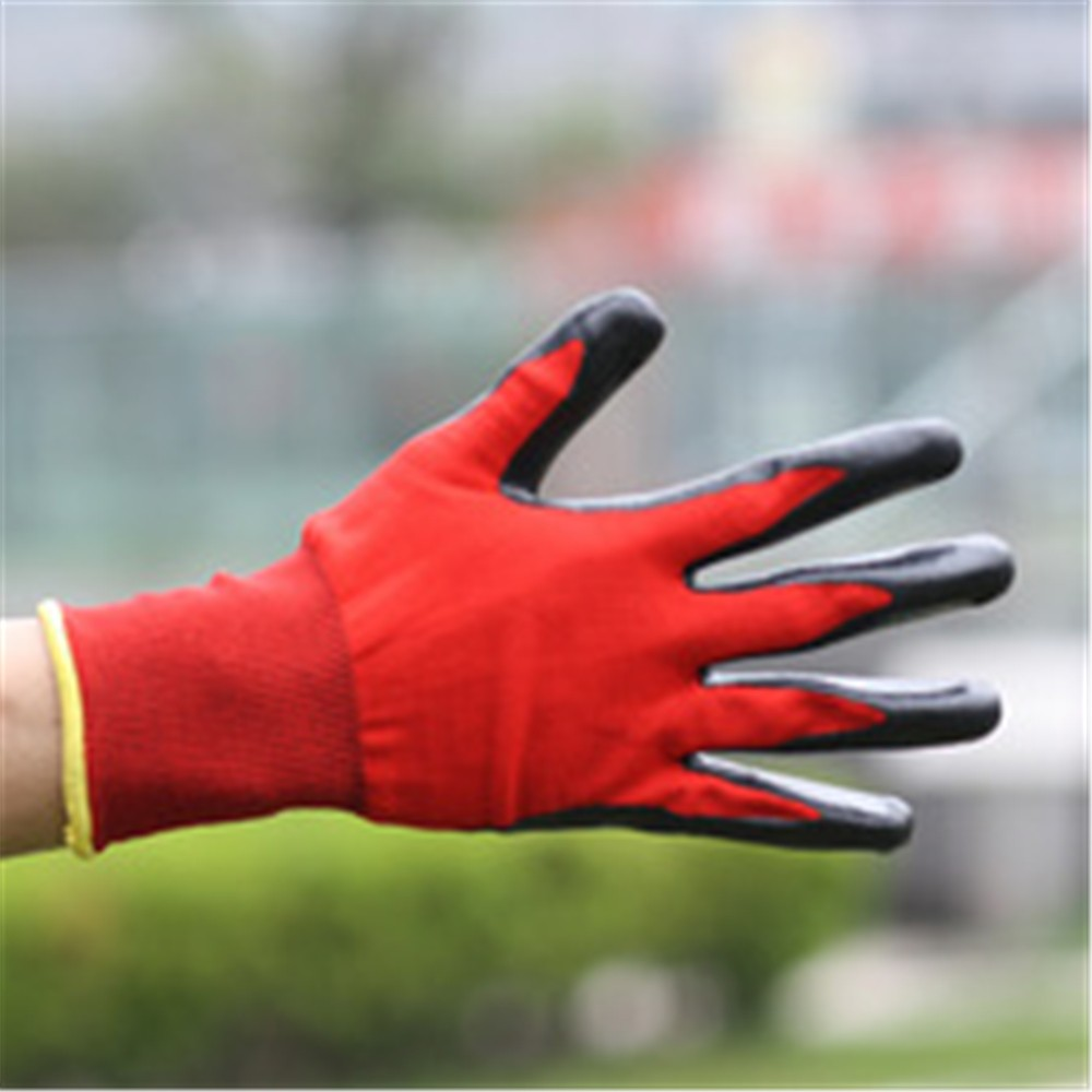 Brand MHR Polycotton Knit Industrial Smooth nitrile coated work glove logo glove