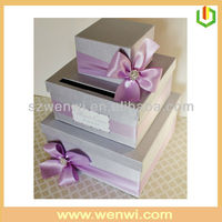 2013 newest style cake boards and boxes with buterfly ribbon