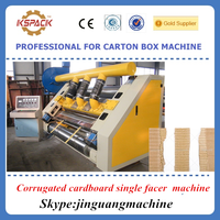 Corrugated cardboard making machine / corrugated single facer machine