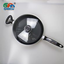 Long Handle Large Non-stick Frying Pan Aluminum Soup Pot Sauce Pan With Lid For Houseware