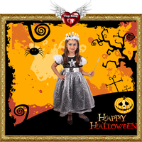2016 New Sexy Haloween Costumes Kids Cosplay Carnival Halloween Star Queen Witch Costumes For Kids Girl