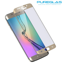 Premium 2016 Mobile Phone 3D Curved Edge Tempered Glass Screen Protector For Samsung galaxy S7 edge