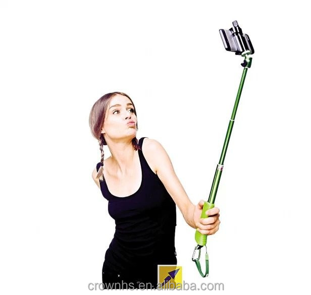 selfie retractable rotating stick monopod hand grip zooming extendable handheld camera tripod. Black Bedroom Furniture Sets. Home Design Ideas