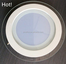 Glass led down light , recessed led panel lamp, led ceiling down light 3w 6w 9w 12w 15w 18w