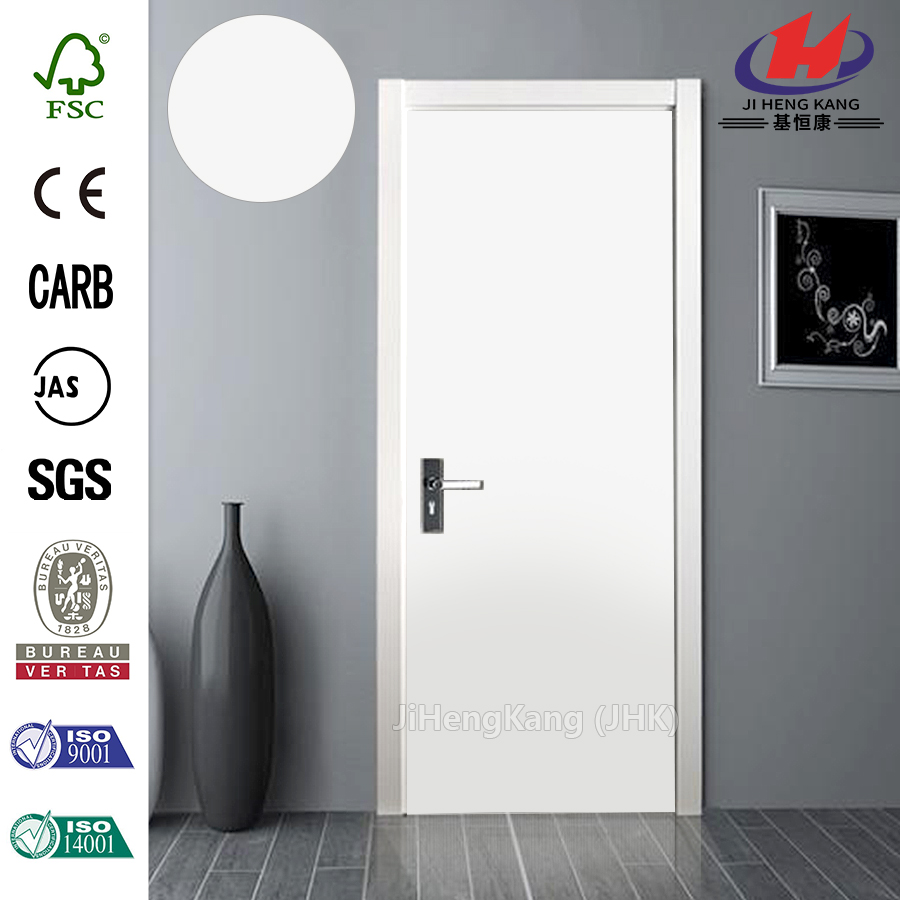 JHK- F01 Bedroom laminate Design Modern White Interior Wooden doors