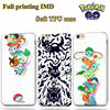 Hight quality IMD Silicone Pokemon Phone Cases for iphone 6 fot iPhone 7 Full Color Printing Skin, for pokemon iphone case