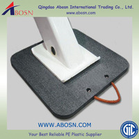 Crane foot support plate