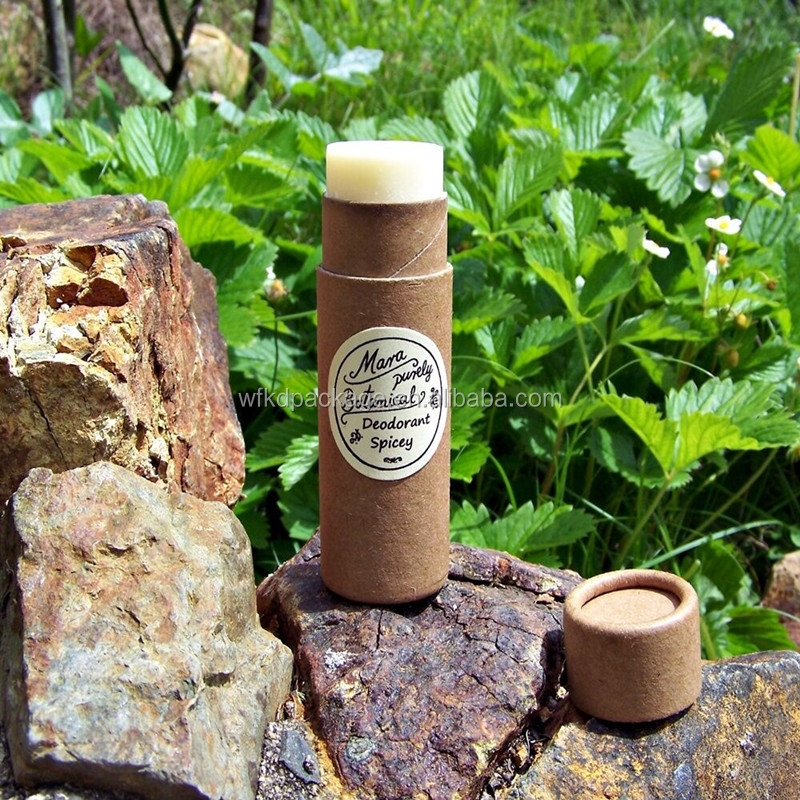 eco friendly deodorant tube push up paper tubes with custom label for lip balm lipstick deodorant