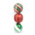 150MM painted plastic hanging christmas ball set