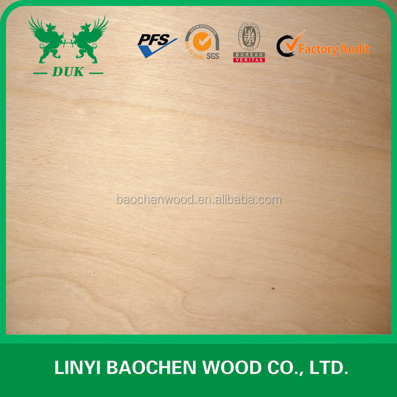 Commercial plywood/birch plywood laser cutting plywood / Die board FSC CE CARB UV Coating