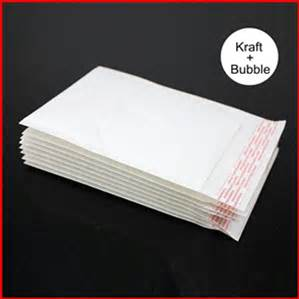 White color Bubble Mailers Padded Envelopes Bags Poly Bubble Mailers bag