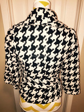Women wool coat forever Black & Ivory houndstooth wool blend jacket size s small 2015 new design coat wholesale