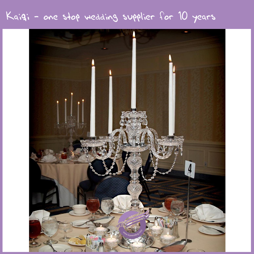 K9455 wedding cheap crystal candelabra centerpieces for Buy wedding centerpieces