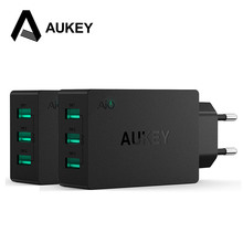 AUKEY 3-Port Universal USB Charger Portable Travel Wall Charger for Smartphone
