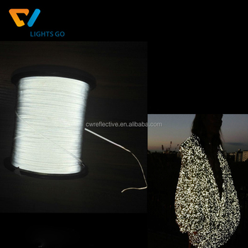 Dongguan Cheng Wei double side grey very soft polyester reflective yarn for knitting clothing