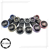 Universal clip lens 235 Degree Super Fisheye Lens+20X Micro Lens for Mobile Phone