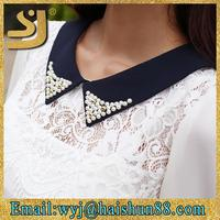 Hot selling designer blouse 2015,designer blouse and tunics,ladies lace tops