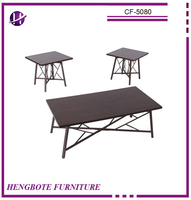 Chinese Factory Coffee Table and End Table Wood Veneer Coffee Table for Sale
