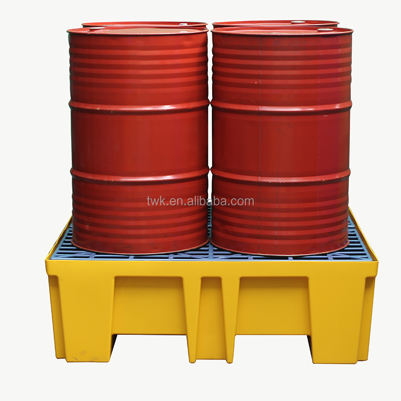 4 drum yellow spill pallet secondary containment