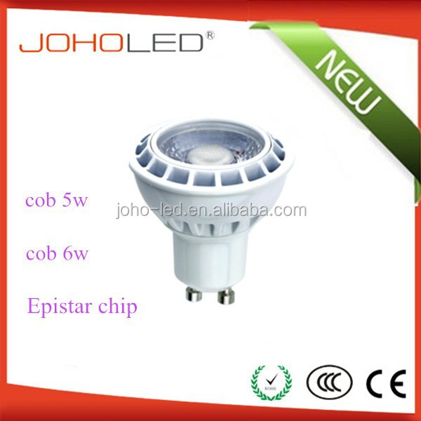 alibaba website ac230v 5w aluminum cob gu10 led spotlight