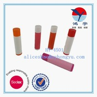 wholesale red plastic PP lipstick contain lipbalm tube