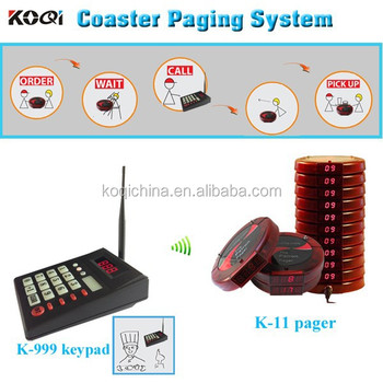 KOQI Brand CE 433.92mhz Vibrating Wireless System Call service Coaster Call