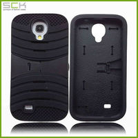 silicone cell phone case cover with bracket for samsung galaxy s4