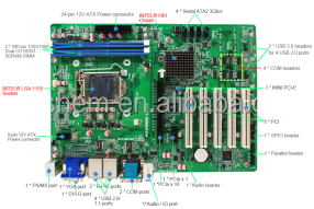 ATX-GS0061C motherboard with intel H61 chipset Supports Intel LGA 1155 Socket 4th Core i3, i5, i7 ,Pentium Processor