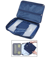Double Zipper Mesh Suit, Shirt, and Tie Travel Storage Organizer Case with Handle