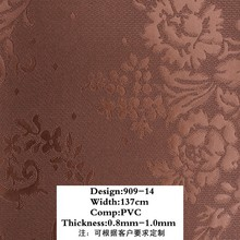 floral pattern artificial leather for wallpaper/PVC leather for wall decoration