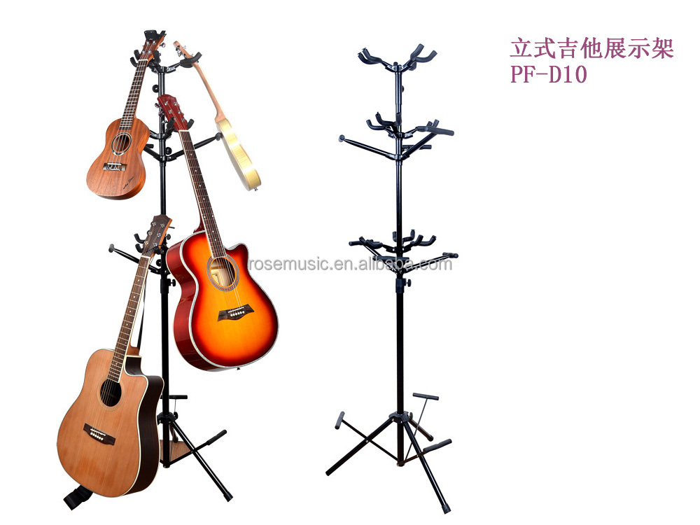 Fashion music accessories 9pcs guitars metal show stand:PF-D10