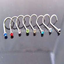 Wholesale Body Piercing Jewelry Stainless Steel Straight Magnetic Nose Stud