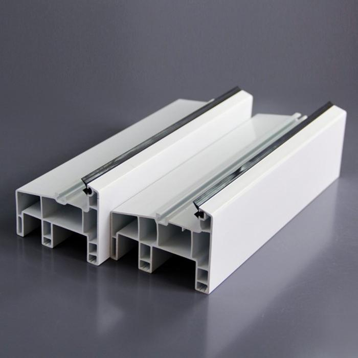 Plastic Coextruded Aama White Thicken Pvc Profiles High Anti-Uv 80mm 60Mm Upvc Profile For Window