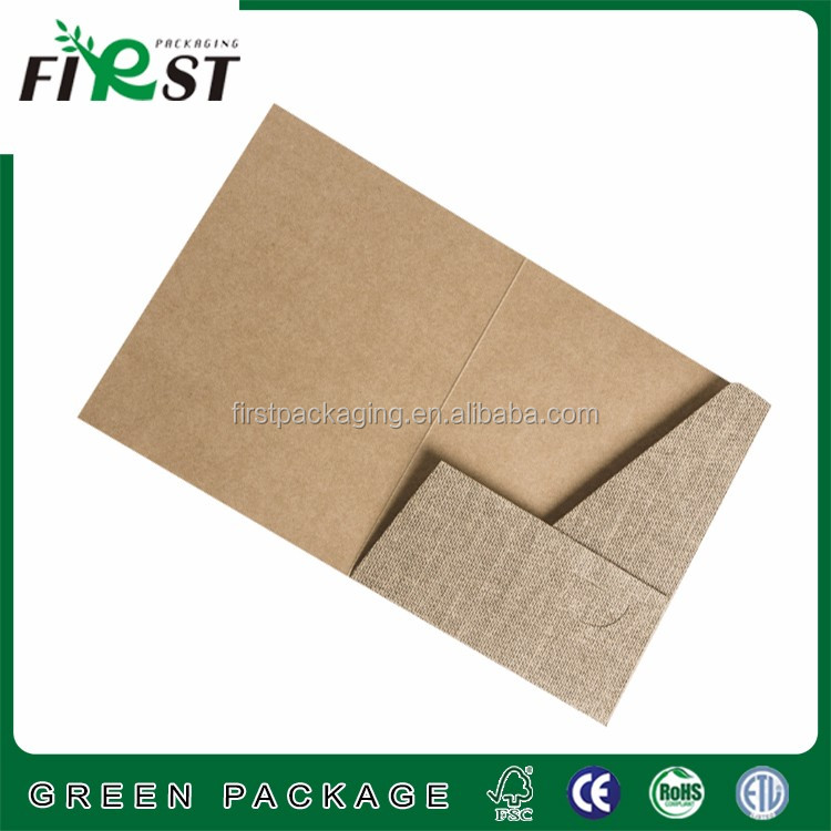 kraft paper packaging file presentation folder