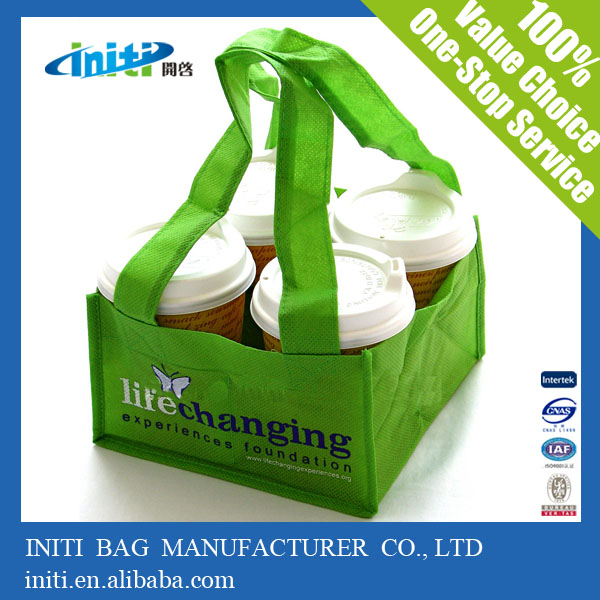Portable Recycling Nonwoven Fabric Bag for Beverage/Drinks
