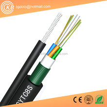 China manufacturers figure 8 self-support aerial single mode fiber optic cable gytc8s