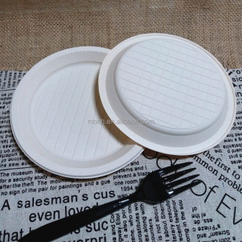 Different Size biodegradable cornstarch plates