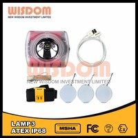 Larger beam lamp 3 miner helmet light