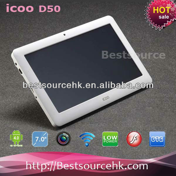 "ICOO D50 Capacitive Touch 7"" tablet pc Android 4.0 A13 512MB 8GB"