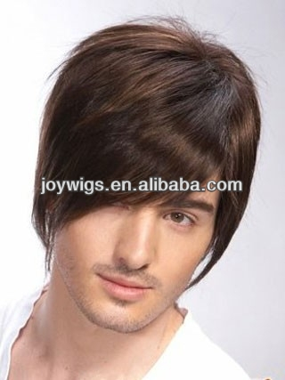 Hot Sale Natural Hair Wig For Men,Virgin Brazilian Hair Full Lace Wig