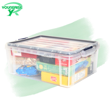 Good quality durable simple transparent plastic toy and clothing storage box on sale