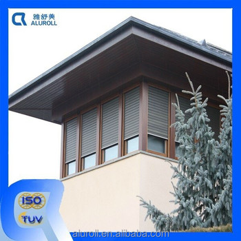 European Style Exterior Vertical Manual Aluminum Automatic Shutters