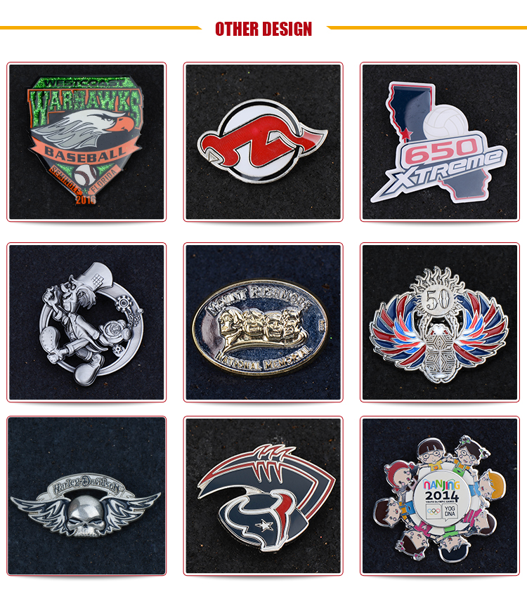Soft Enamel Pins /Customized Design / High Quality Custom Soft enamel lapel pins